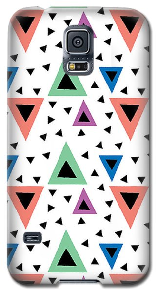 Triangular Dance Repeat Print Galaxy S5 Case by Susan Claire