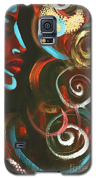 Galaxy S5 Case featuring the pastel Tribal Celebration by Alga Washington