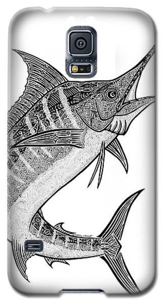 Sport Art Galaxy S5 Case - Tribal Marlin IIi by Carol Lynne
