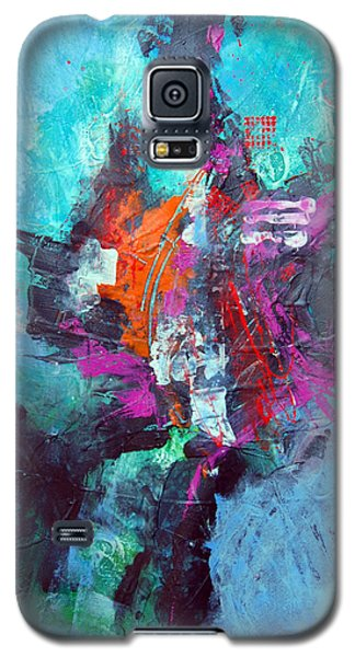 Galaxy S5 Case featuring the painting Tribal by Ron Stephens