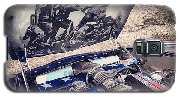 Patriotic Galaxy S5 Case - Tribute #corvette To All Veterans #usa by Mike Maher