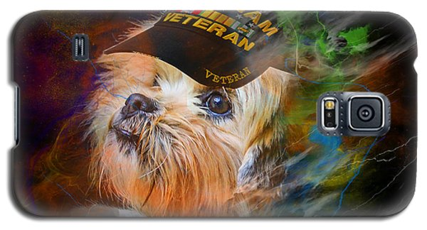 Tribute To Canine Veterans Galaxy S5 Case by Kathy Tarochione