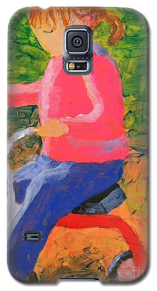 Galaxy S5 Case featuring the painting Tricycle by Donald J Ryker III