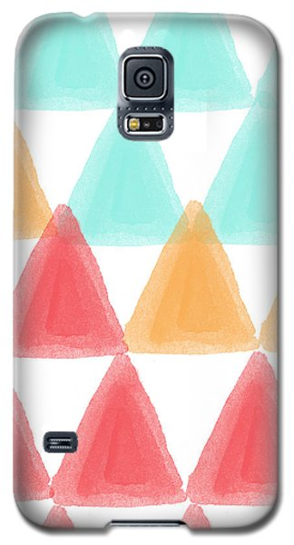 Trifold- Colorful Abstract Pattern Painting Galaxy S5 Case by Linda Woods
