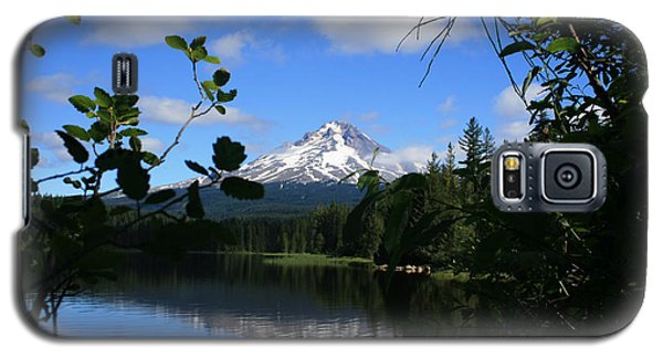 Trillium Lake With Mt. Hood  Galaxy S5 Case by Ian Donley