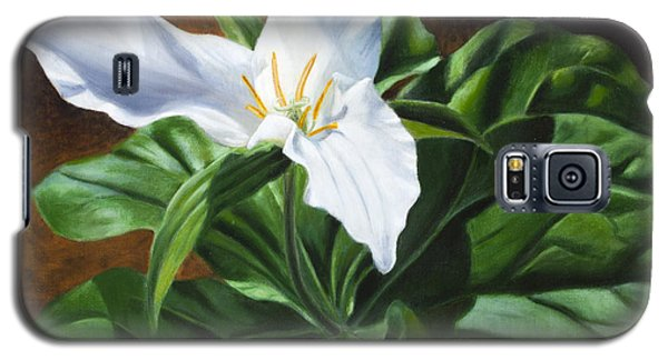 Trillium - Oil Painting On Canvas Galaxy S5 Case
