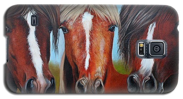 Galaxy S5 Case featuring the painting Trio by Debbie Hart