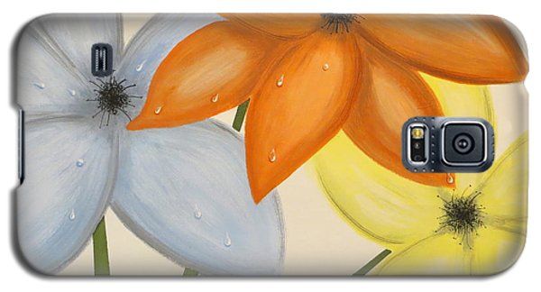 Trio Of Flowers Galaxy S5 Case by Tim Townsend
