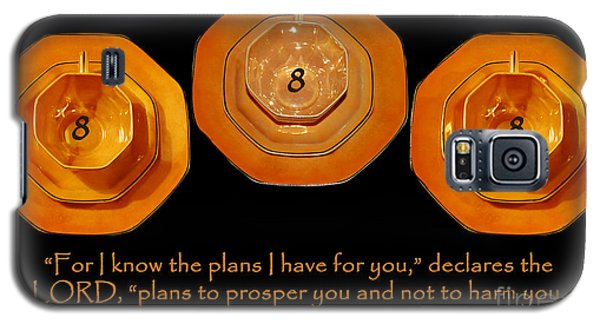Triple Eight Octagon Saucers With Jeremiah Twenty Nine Eleven On Black Galaxy S5 Case by Heather Kirk