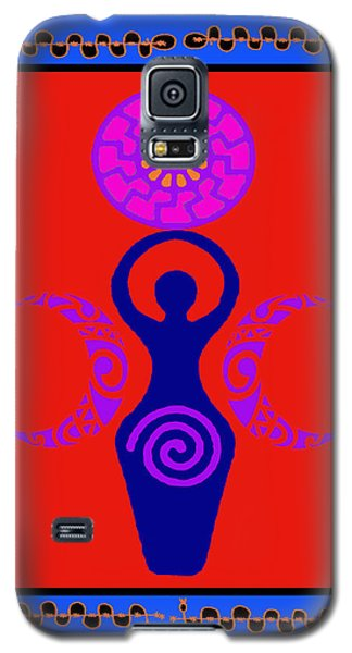 Galaxy S5 Case featuring the digital art Triple Goddess by Vagabond Folk Art - Virginia Vivier
