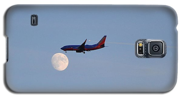 Southwest Airlines Flies To The Moon Galaxy S5 Case by Kelly Reber