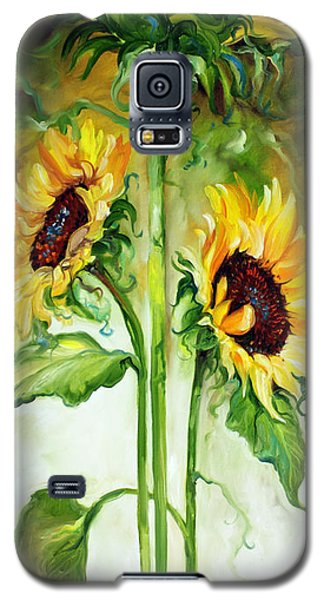 Triple Sunny Sunflowers Galaxy S5 Case