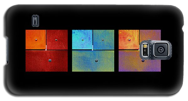 Triptych Red Cyan Purple - Colorful Rust Galaxy S5 Case