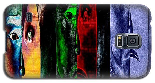 Galaxy S5 Case featuring the digital art Triptychon Paerchen II - Triptych Couple II by Mojo Mendiola