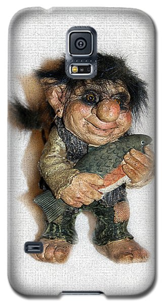 Galaxy S5 Case featuring the sculpture Troll Fisherman by Sergey Lukashin