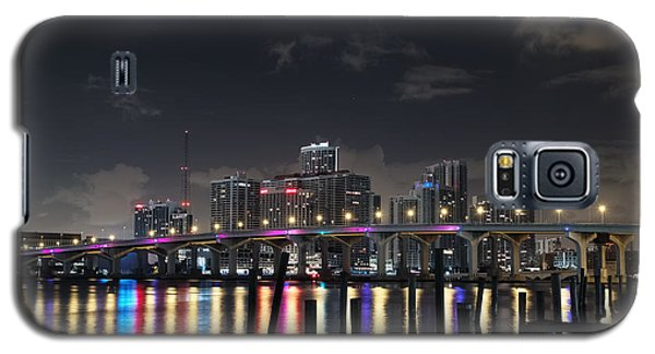 Galaxy S5 Case featuring the photograph Trooper Bridge Miami by Gary Dean Mercer Clark