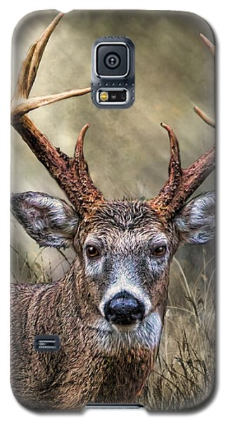 Galaxy S5 Case featuring the digital art Trophy 10 Point Buck by Mary Almond