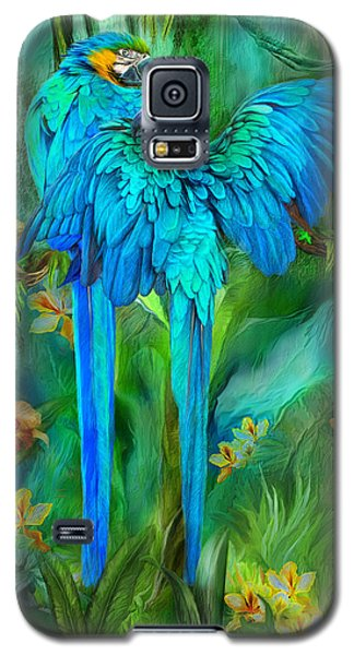 Tropic Spirits - Gold And Blue Macaws Galaxy S5 Case