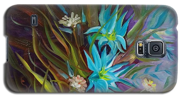 Tropical Blue Galaxy S5 Case by Jenny Lee