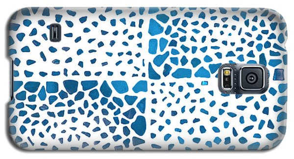 Galaxy S5 Case featuring the mixed media Tropical Blue by Kjirsten Collier