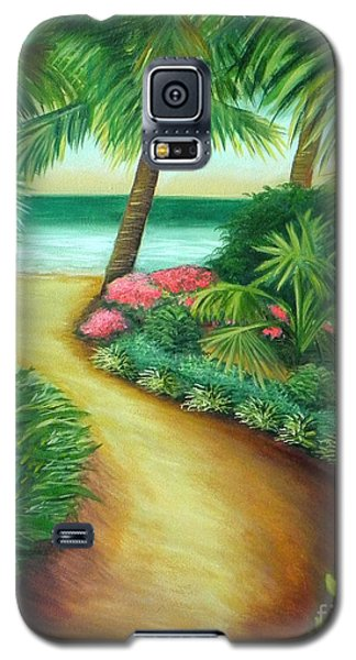 Galaxy S5 Case featuring the painting Tropical Breezes by Shelia Kempf