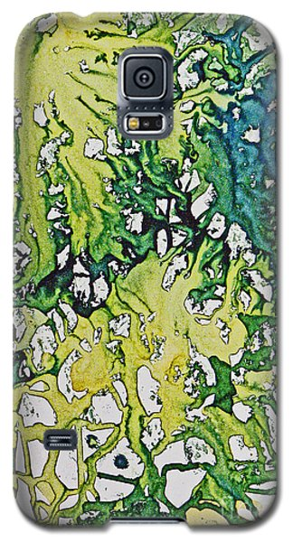 Galaxy S5 Case featuring the painting Tropical Confusion by Joan Hartenstein