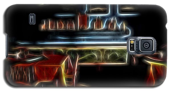 Galaxy S5 Case featuring the digital art Tropical Dining Room 1 by William Horden