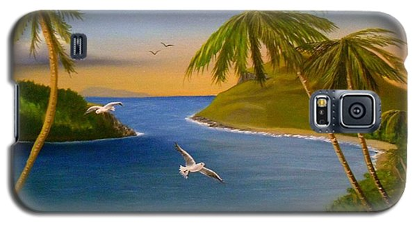 Galaxy S5 Case featuring the painting Tropical Escape by Sheri Keith