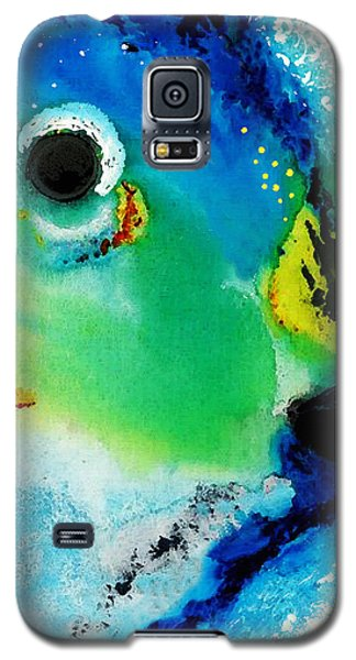 Parrot Galaxy S5 Case - Tropical Fish 2 - Abstract Art By Sharon Cummings by Sharon Cummings