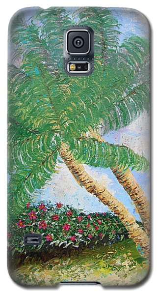 Galaxy S5 Case featuring the painting Tropical Flair by Margaret Bobb
