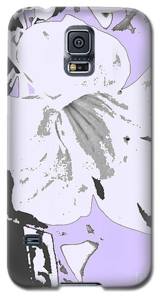 Tropical Floral Violet Black Galaxy S5 Case