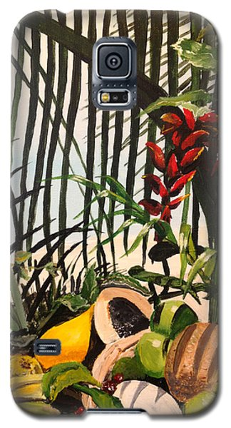 Galaxy S5 Case featuring the painting Tropical Fruit by Alan Lakin