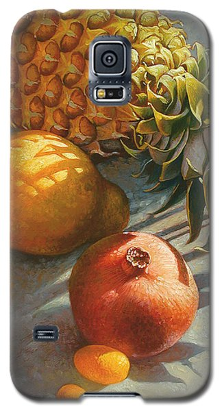 Tropical Fruit Galaxy S5 Case by Mia Tavonatti