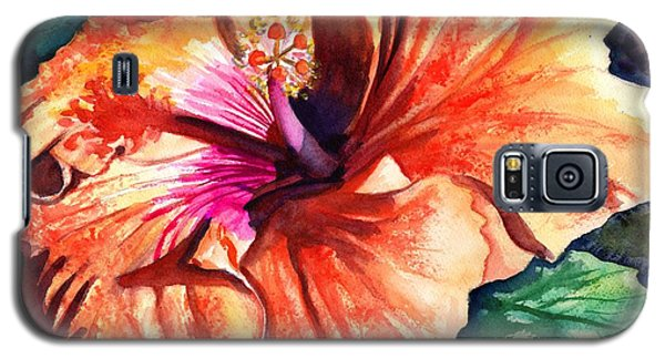 Tropical Hibiscus Galaxy S5 Case