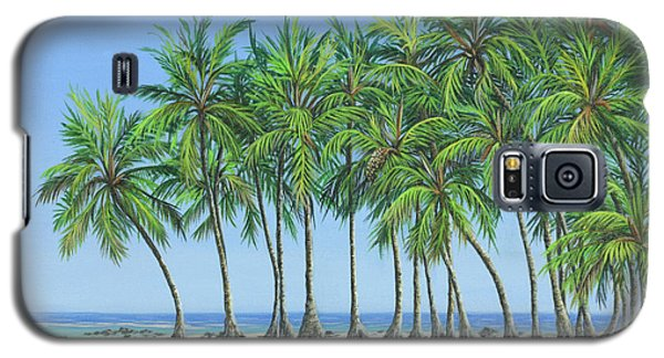 Galaxy S5 Case featuring the painting Tropical Lagoon by Jane Girardot