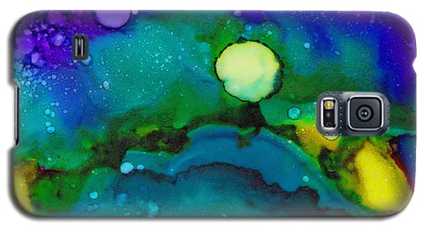 Galaxy S5 Case featuring the painting Tropical Moon by Angela Treat Lyon