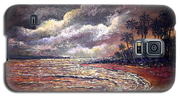 Galaxy S5 Case featuring the painting Tropical Moon by Lou Ann Bagnall