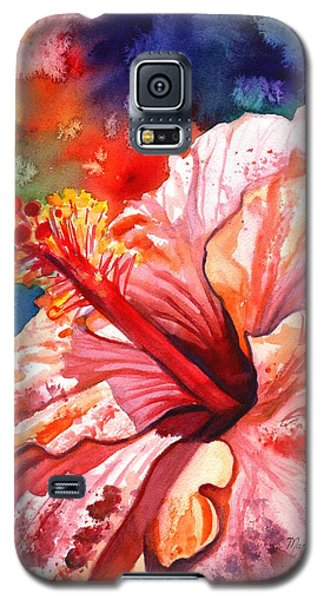 Tropical Pink Hibiscus Galaxy S5 Case