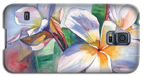 Tropical Plumeria Flowers Galaxy S5 Case