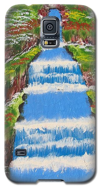 Tropical Rain Forest Water Fall Galaxy S5 Case by Brady Harness