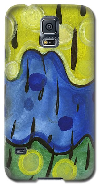 Galaxy S5 Case featuring the painting Tropical Rain by Stephen Lucas