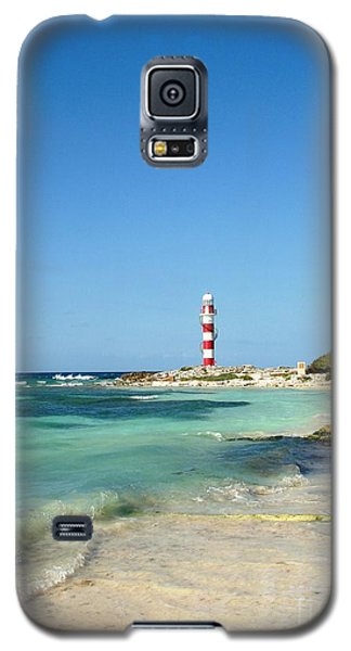 Tropical Seascape With Lighthouse Galaxy S5 Case