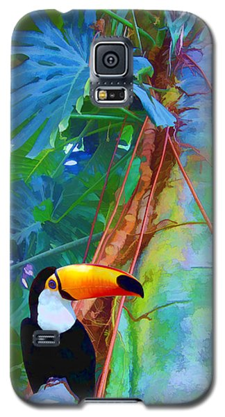 Tropical Toucan Galaxy S5 Case by Kathleen Holley