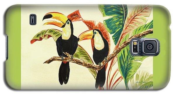 Toucan Galaxy S5 Case - Tropical Toucans I by Linda Baliko