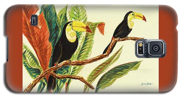 Toucan Galaxy S5 Case - Tropical Toucans II by Linda Baliko