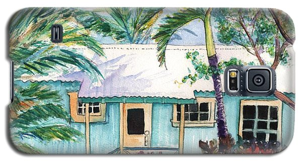 Galaxy S5 Case featuring the painting Tropical Vacation Cottage by Marionette Taboniar