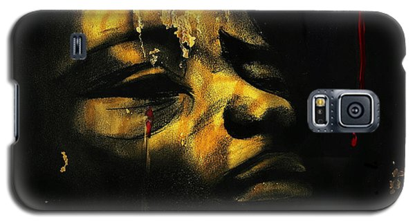 Galaxy S5 Case featuring the painting Troubled  Africa by Hartmut Jager