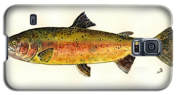 Trout Galaxy S5 Case - Trout Fish by Juan  Bosco