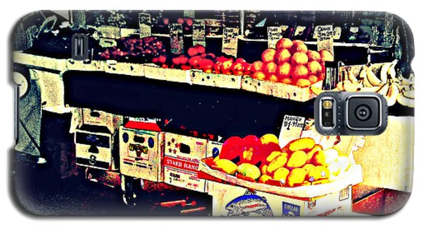 Galaxy S5 Case featuring the photograph Vintage Outdoor Fruit And Vegetable Stand - Markets Of New York City by Miriam Danar