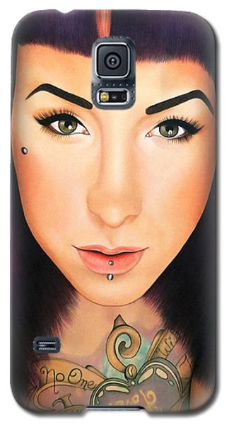 True Beauty - Danielle St Laurent Galaxy S5 Case by Malinda Prudhomme